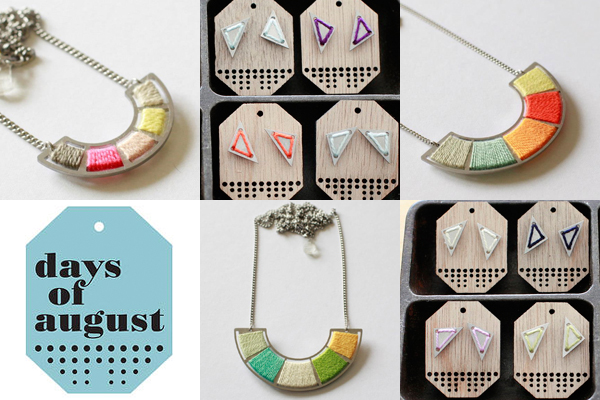 Days of August – new jewellery range!